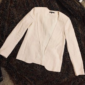 THEORY wool blend cream blazer